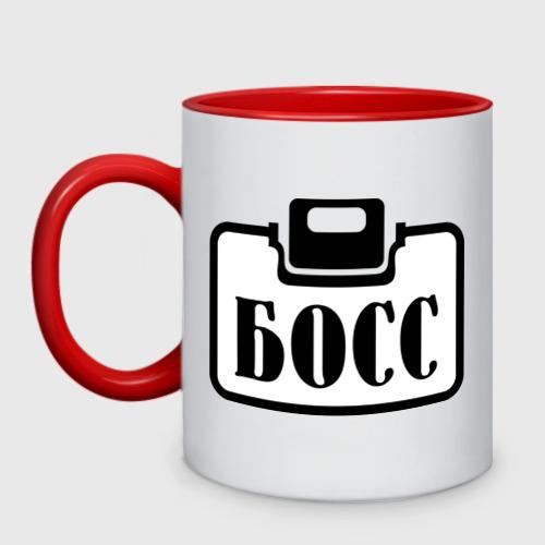 Кружка двухцветная Бейджик (Босс)