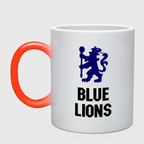 Кружка хамелеон blue lions (chelsea)