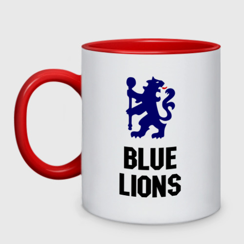 Кружка двухцветная blue lions (chelsea)