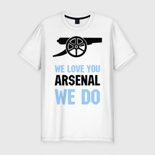 Мужская футболка хлопок Slim we love you arsenal we do