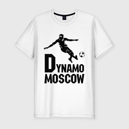Мужская футболка хлопок Slim Dynamo Moscow
