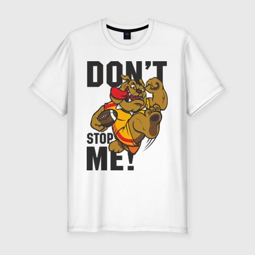 Мужская футболка хлопок Slim Don't Stop Me