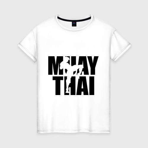 Женская футболка хлопок Muay thai  (Тайский бокс)