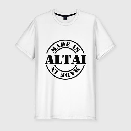 Мужская футболка хлопок Slim Made in Altai (сделано в Алтае)