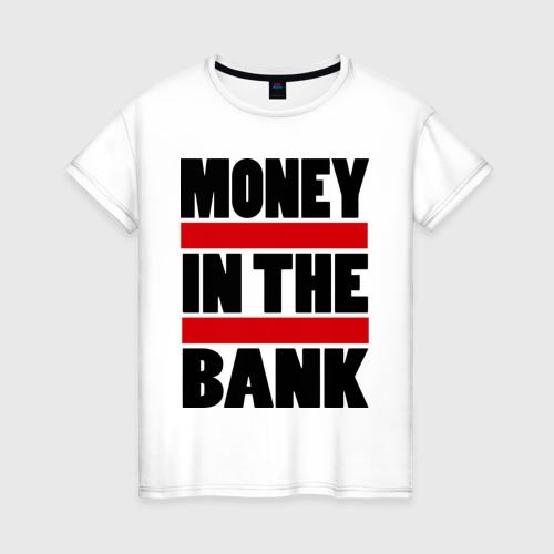 Женская футболка хлопок Деньги в банке