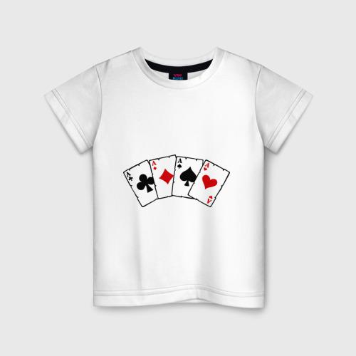 Детская футболка хлопок Четыре туза