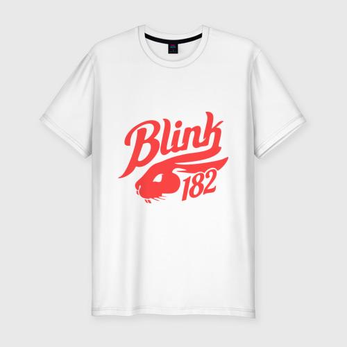 Мужская футболка хлопок Slim blink 182