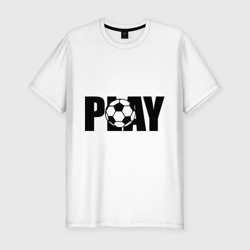 Мужская футболка хлопок Slim Играть в футбол