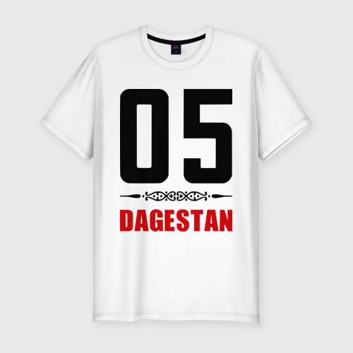 Мужская футболка хлопок Slim 05 Дагестан