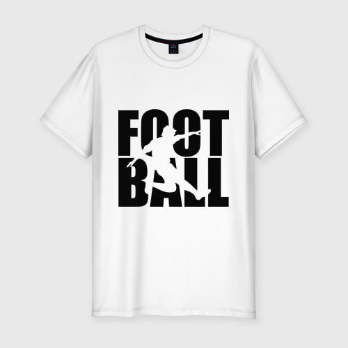 Мужская футболка хлопок Slim Football (Футбол)
