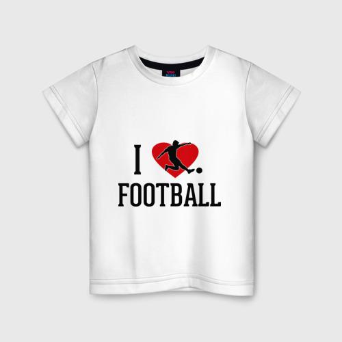 Детская футболка хлопок Я люблю футбол
