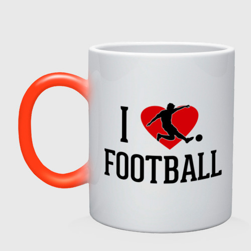 Кружка хамелеон Я люблю футбол
