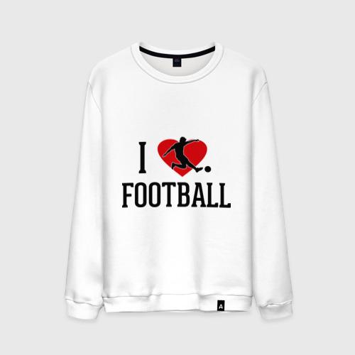 Мужской свитшот хлопок Я люблю футбол