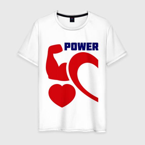 Мужская футболка хлопок Power of love (м)