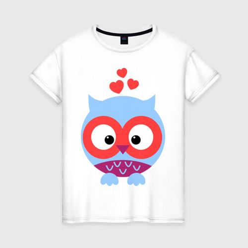 Женская футболка хлопок Сова аппликация