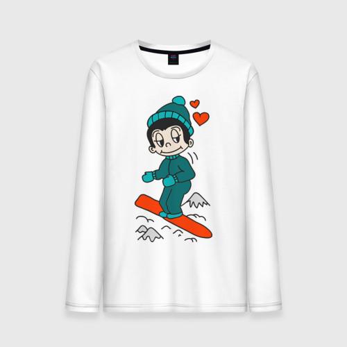 Мужской лонгслив хлопок Love is snowboarding