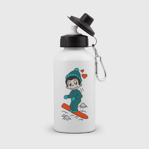 Бутылка спортивная Love is snowboarding
