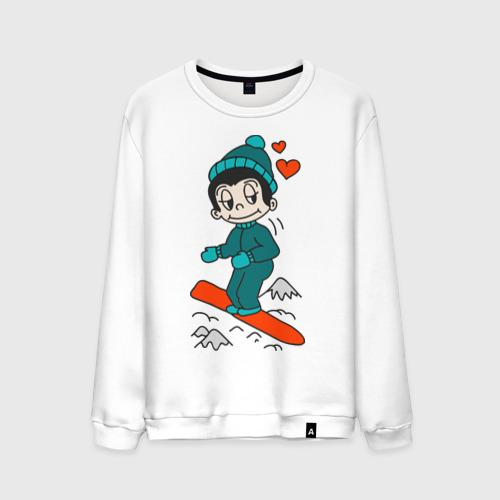 Мужской свитшот хлопок Love is snowboarding