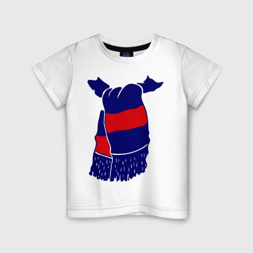 Детская футболка хлопок ЦСКА шарф