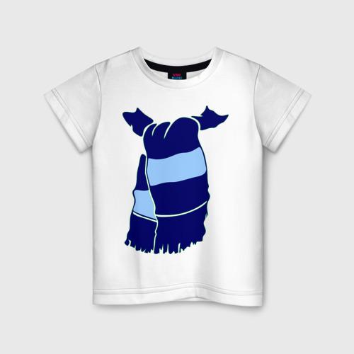 Детская футболка хлопок Сине-голубой шарф