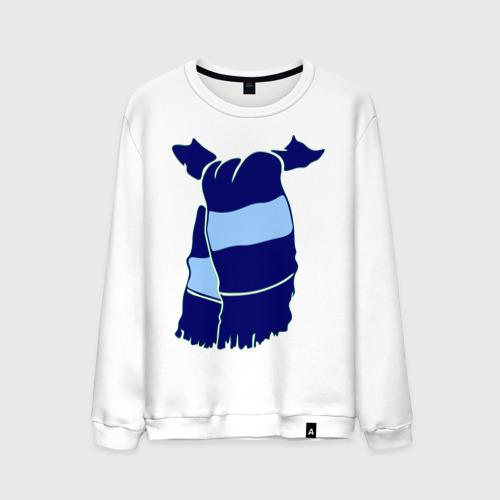 Мужской свитшот хлопок Сине-голубой шарф