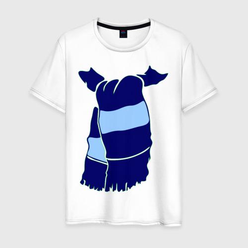 Мужская футболка хлопок Сине-голубой шарф