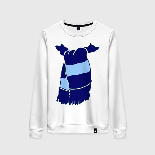 Женский свитшот хлопок Сине-голубой шарф