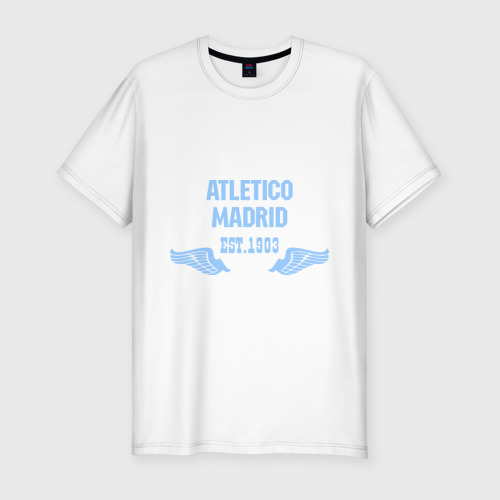 Мужская футболка хлопок Slim Atletico Madrid (Атлетико Мадрид)
