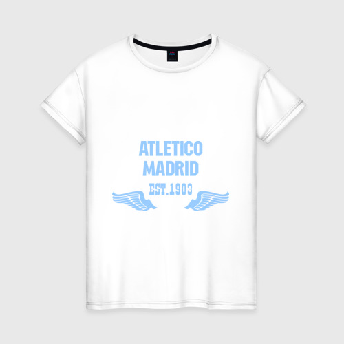 Женская футболка хлопок Atletico Madrid (Атлетико Мадрид)