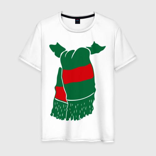 Мужская футболка хлопок Локомотив шарф