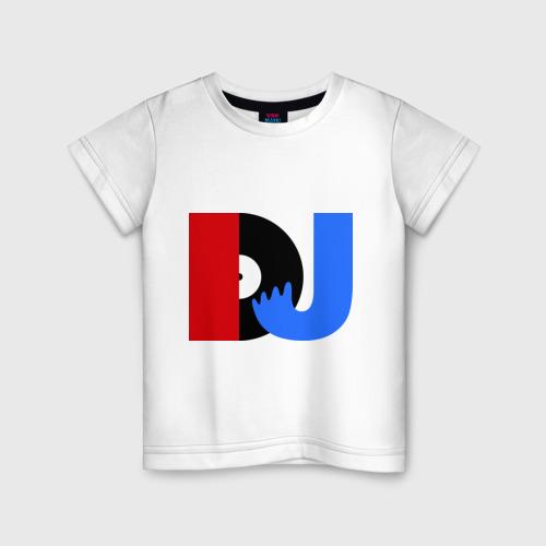 Детская футболка хлопок DJ vinyl