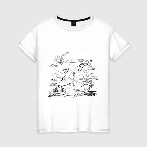 Женская футболка хлопок Бой