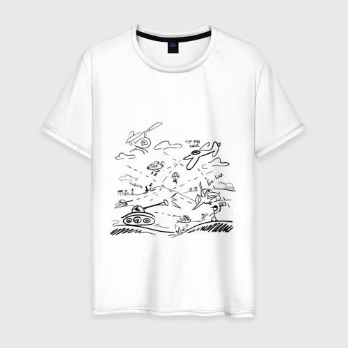 Мужская футболка хлопок Бой