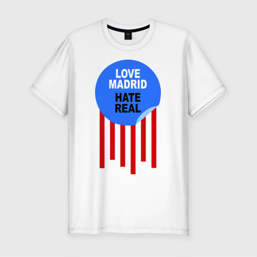 Мужская футболка хлопок Slim Atletico Madrid ( Атлетико Мадрид )