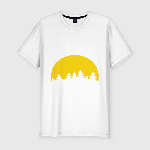 Мужская футболка хлопок Slim Полная луна