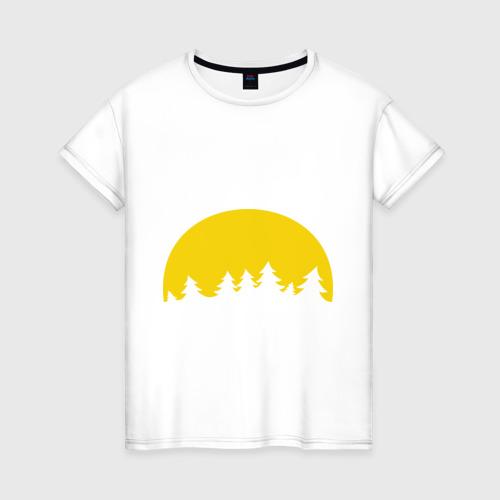 Женская футболка хлопок Полная луна