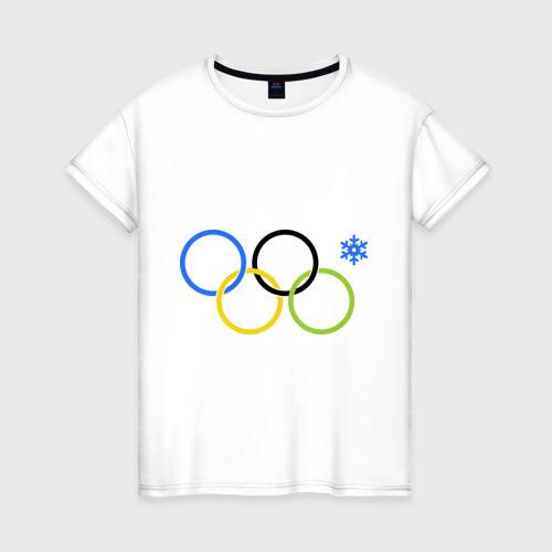 Женская футболка хлопок Нераскрывшееся кольцо цветное