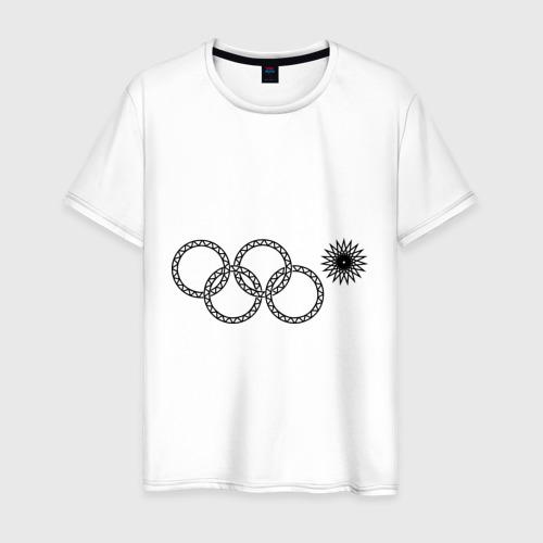 Мужская футболка хлопок Нераскрывшееся кольцо