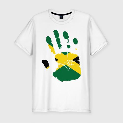 Мужская футболка хлопок Slim Рука Ямайки