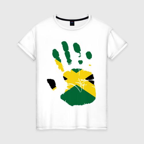 Женская футболка хлопок Рука Ямайки