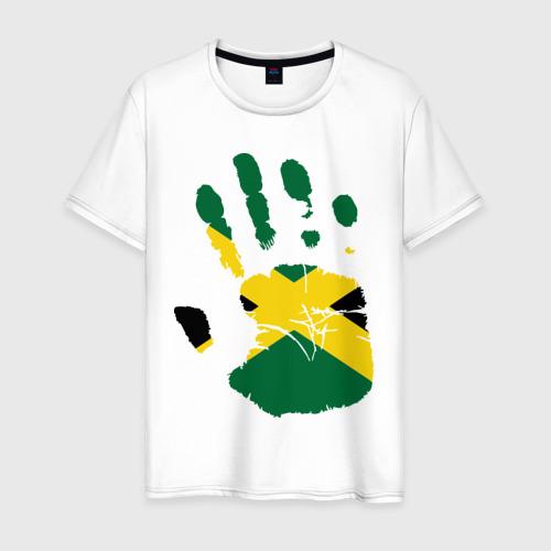 Мужская футболка хлопок Рука Ямайки