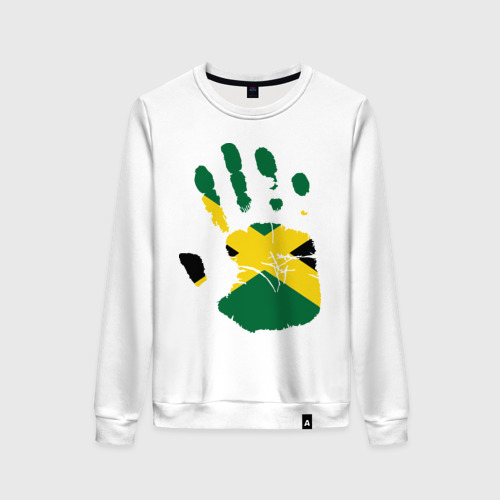 Женский свитшот хлопок Рука Ямайки