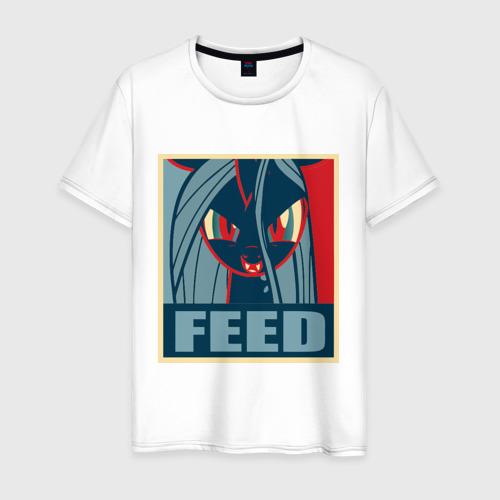 Мужская футболка хлопок Fluttershy feed
