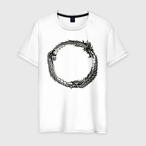 Мужская футболка хлопок The elder scrolls online (серебро)