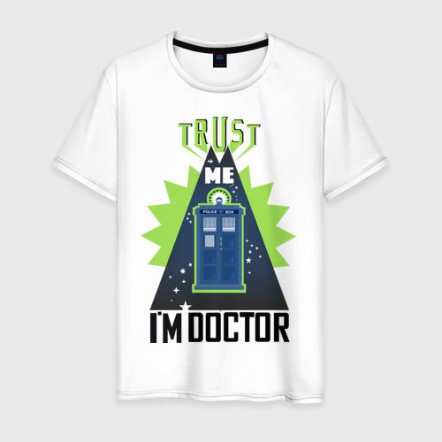 Мужская футболка хлопок Верь мне, я доктор