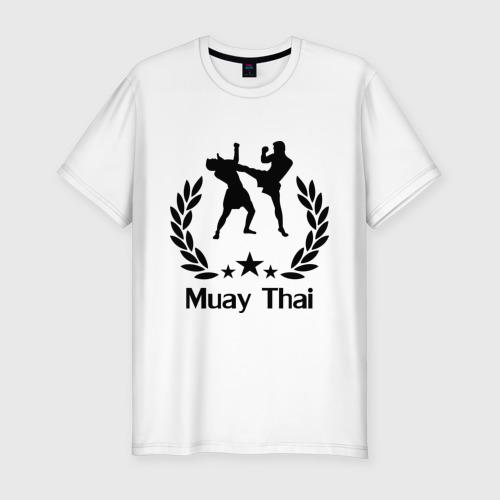 Мужская футболка хлопок Slim Muay Thai (Тайский бокс)