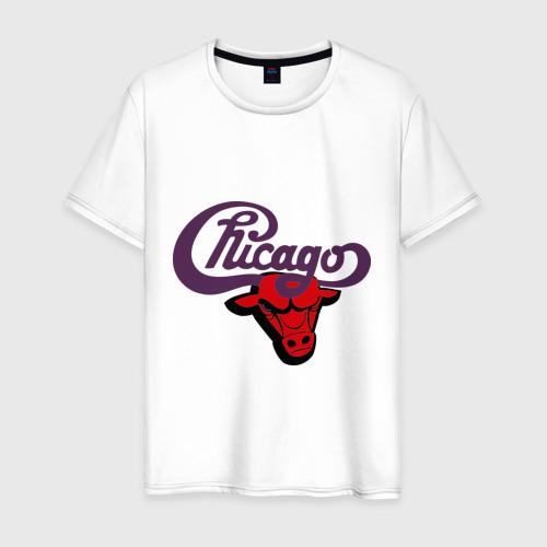 Мужская футболка хлопок Чикаго Булс Chicago bulls