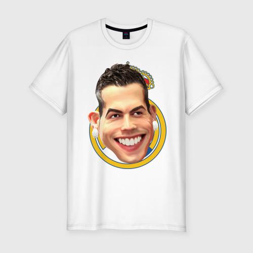 Мужская футболка хлопок Slim Криштиану Роналду