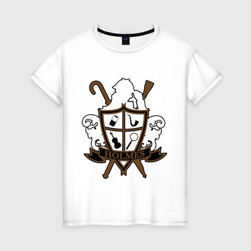 Женская футболка хлопок Sherlock Shield