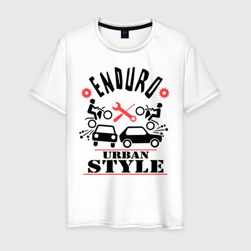 Мужская футболка хлопок enduro urban style